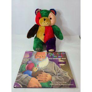 Peef The Christmas Bear by Tom Hegg Set Book &Beer